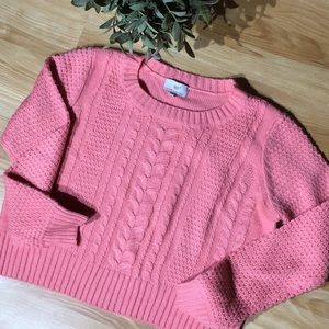 Iris Crop Sweater Size S